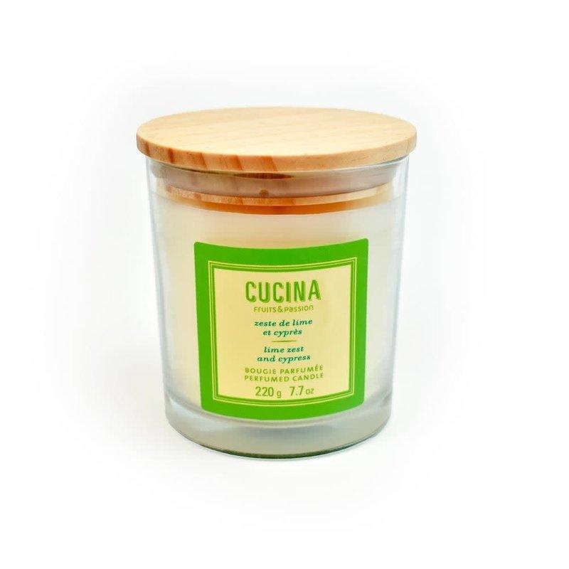 Fruits et Passion Bougie Parfumée  Cucina Zeste de Lime et Cyprès 220g