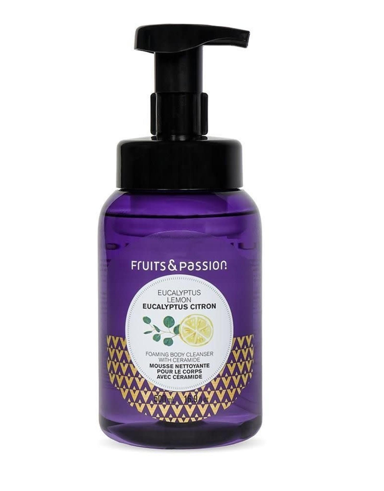 Fruits et Passion Mousse Nettoyante pour le Corps avec Céramide Eucalyptus Citron 500ml