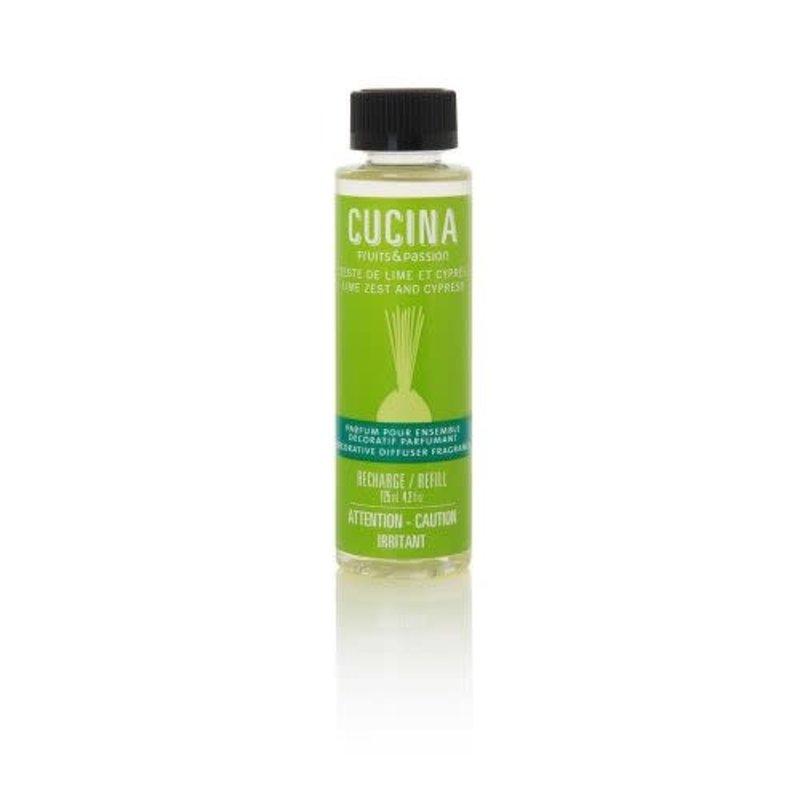 Fruits et Passion Parfum pour Ensemble Décoratif Parfumant Zeste de Lime et Cyprès 125ml