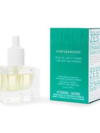 Fruits et Passion Recharge de Parfum pour Diffuseur Électrique Zeste de Lime et Cyprès 25ml