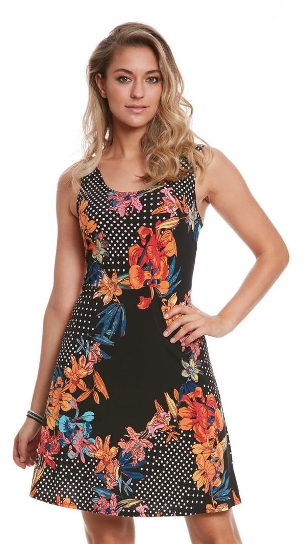 Robe Motifs Pois Yul Voy Style Easy Dress