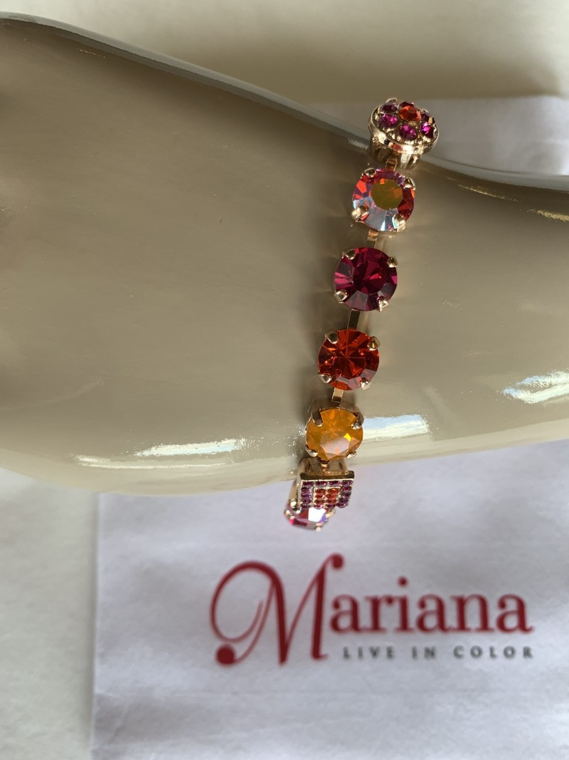 Mariana Bracelet Mariana B-4161 Pierres Orange/Fushia/Gold 1075RG
