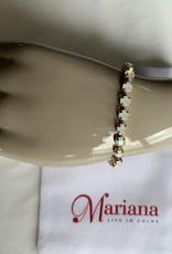 Mariana Bracelet Mariana B-4000 Petite Plaqué Rose Gold avec Cristaux Swarovski Offwhite/Gold 234234RG