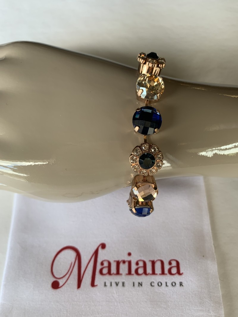 Mariana Bracelet Mariana B-4174 Cristaux Swarovski Royal/Gold 2142 RG