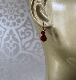 Mariana Boucles d'oreilles Mariana avec pierres E-1190 Rouge/Gold 227227RG6