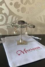 Mariana Boucles d'oreilles Mariana E-1062 avec pierres Perle/Bleu pale/Gold 39361RG6