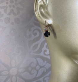 Mariana Boucles d'oreilles Mariana avec pierres E-1190 Charcoal/Gold 1094-RG6