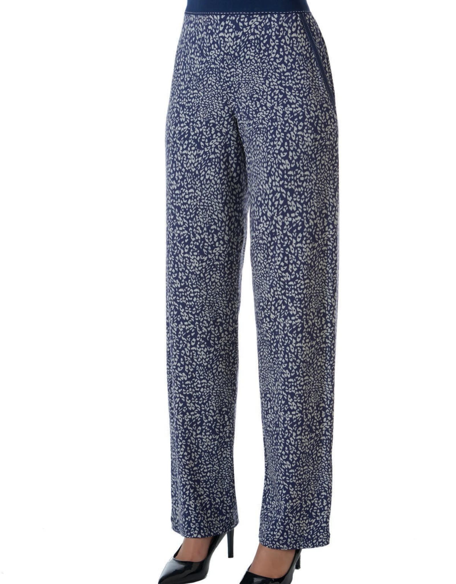 Janira Pantalon Loo Bleu Chat Janira avec Poches en Viscose LG25164
