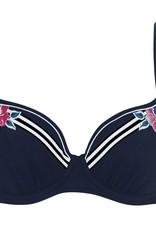 Sunflair Haut de Bikini Dark Flower avec Armatures et Bonnet Mince Sunflair 21251