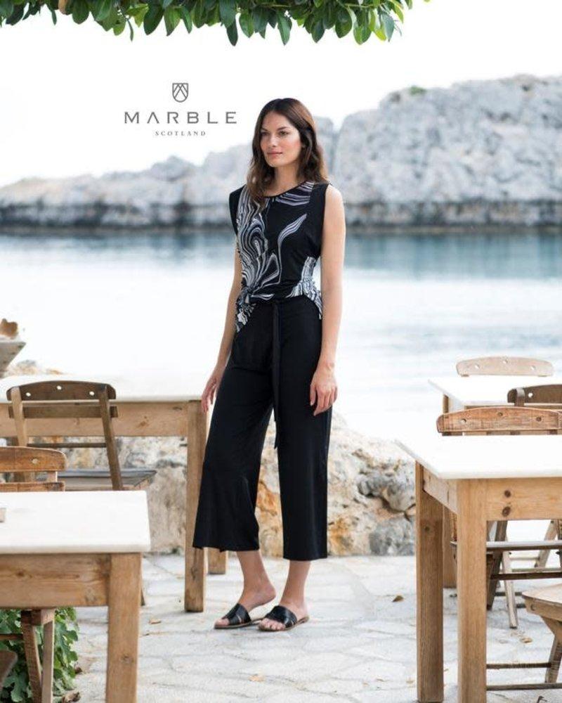MARBLE Pantalon Palazzo 7/8  Tissu Léger 5775