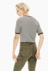 Garcia T-Shirt Pied-de-poule Col Rond Garcia T00206