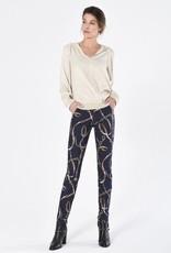 ROBELL Pantalon Slim Fit Motifs Chaines 78 cm ROBELL Bella 51690