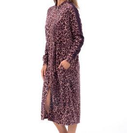 Robe de Chambre Longue Zippée Léopard Patricia Lingerie 937-C