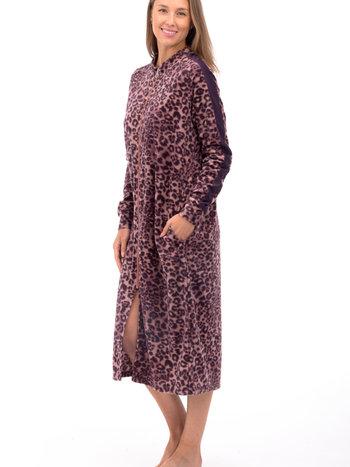 Patricia Lingerie Robe de Chambre Longue Zippée Léopard Patricia Lingerie 937-C