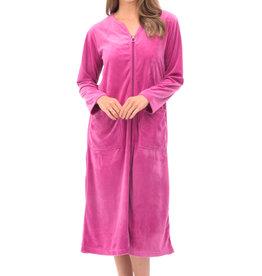 Robe de Chambre Zippée en Velour avec Poches Patricia Lingerie 899-7