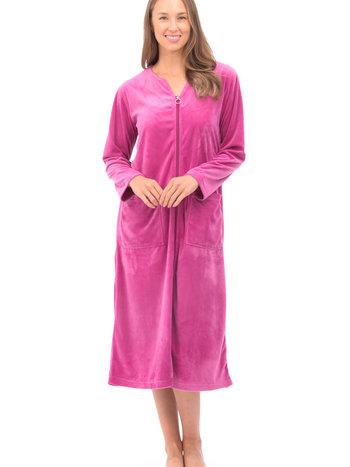 Patricia Lingerie Robe de Chambre Zippée en Velour avec Poches Patricia 899-7