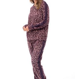 Pyjama 2pcs Léopard avec Manches et Jambes Longues Patricia 937-1