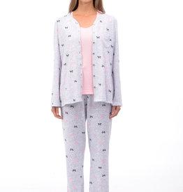 Pyjama 3pcs Camisole et Chandail/Pantalon Long Patricia Lingerie 933-22