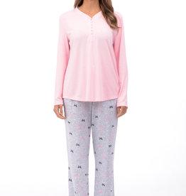Pyjama 2pcs à Manches et Jambes Longues Patricia Lingerie 933-1