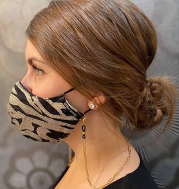 Atelier SYP Chaîne de Masque MasXessories-1 Acier Inox plq. 18K Paperclip