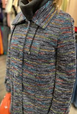 Manteau à Rayures qui Boutonne Pure Essence 296-4524