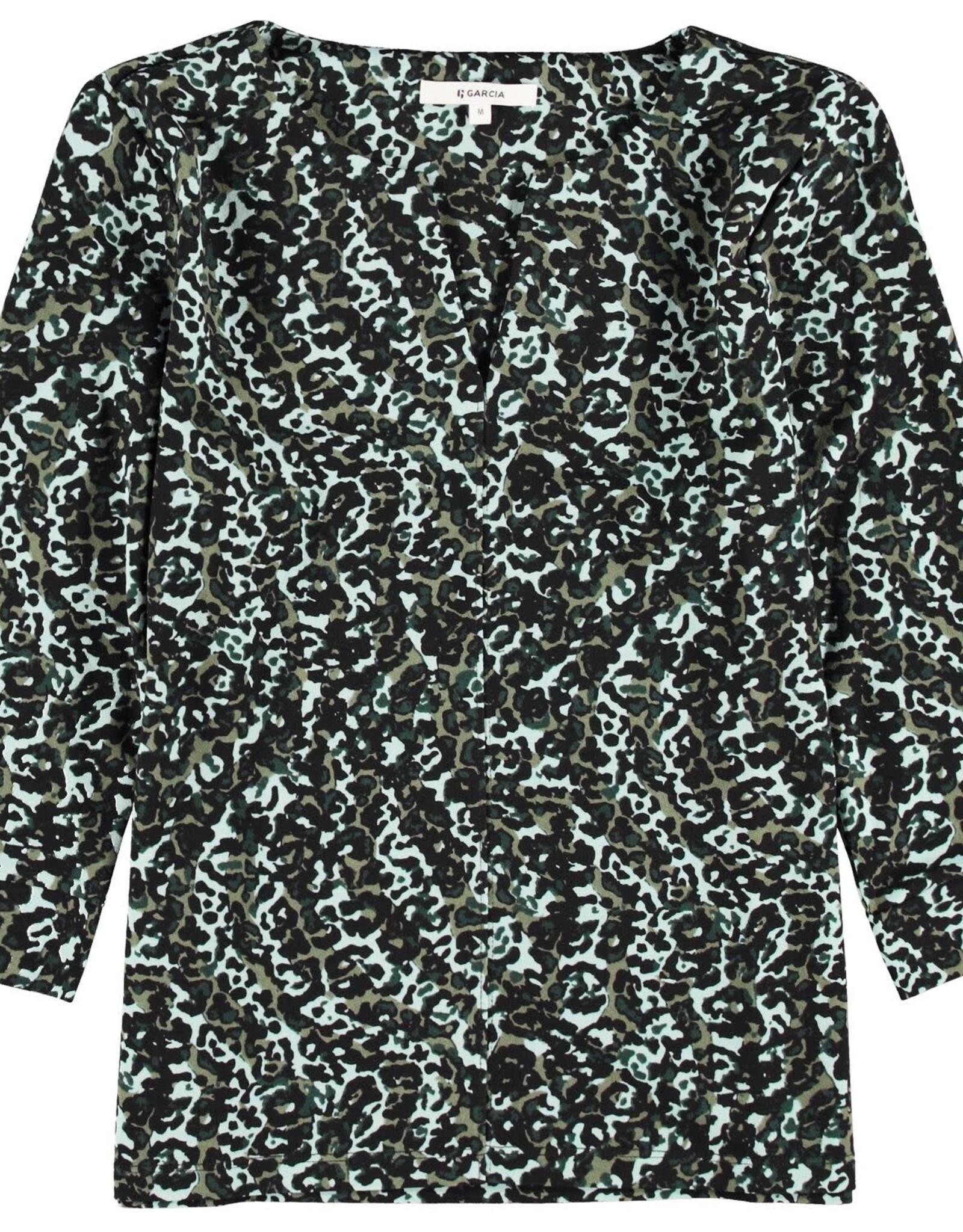 Garcia T-shirt à Encolure Fendue et Imprimé Garcia V00206