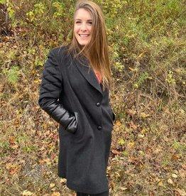 Furlux Manteau de Style Long Veston Furlux CHERYL