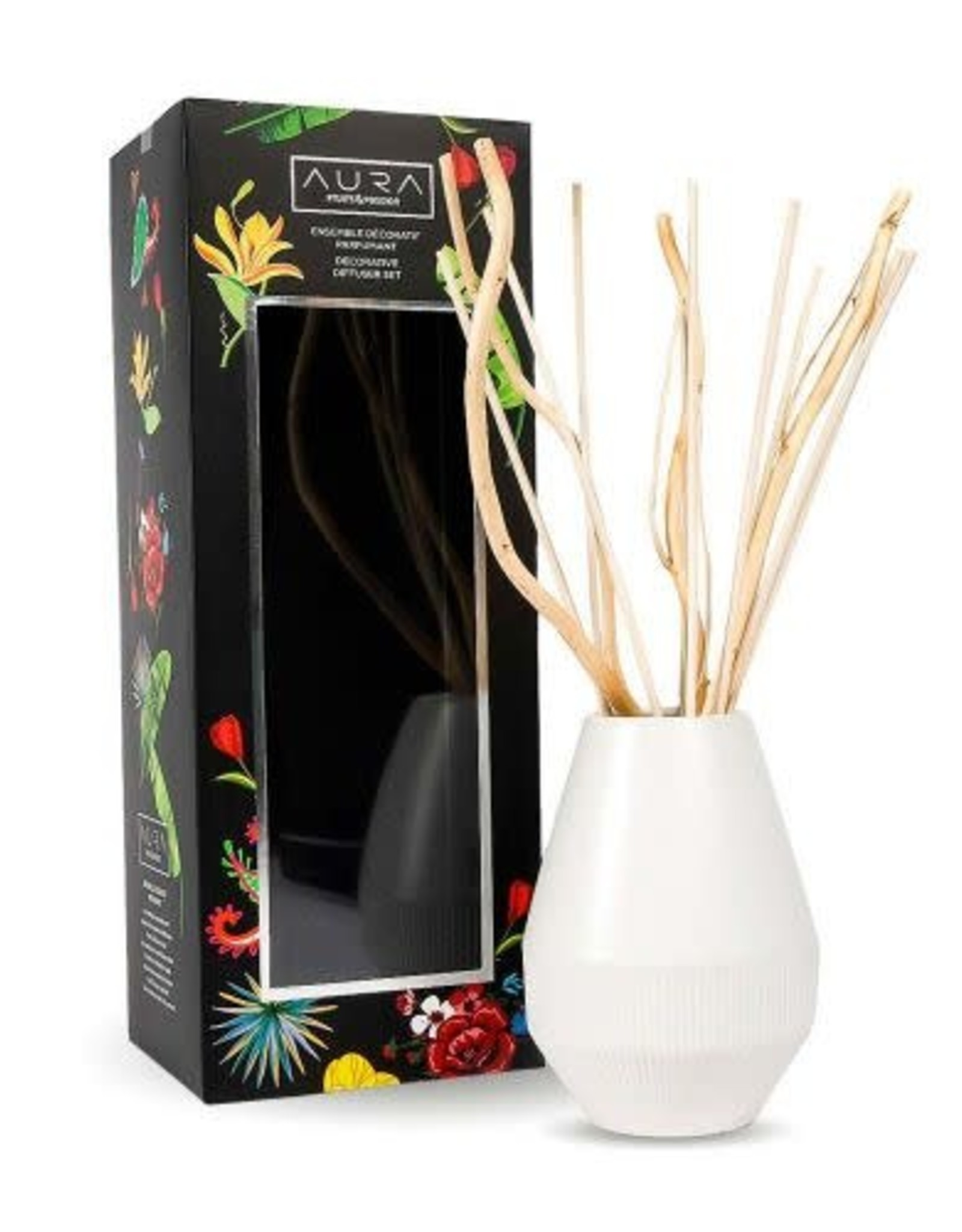 Fruits et Passion Ensemble de Roseaux Décoratif Parfumant AURA