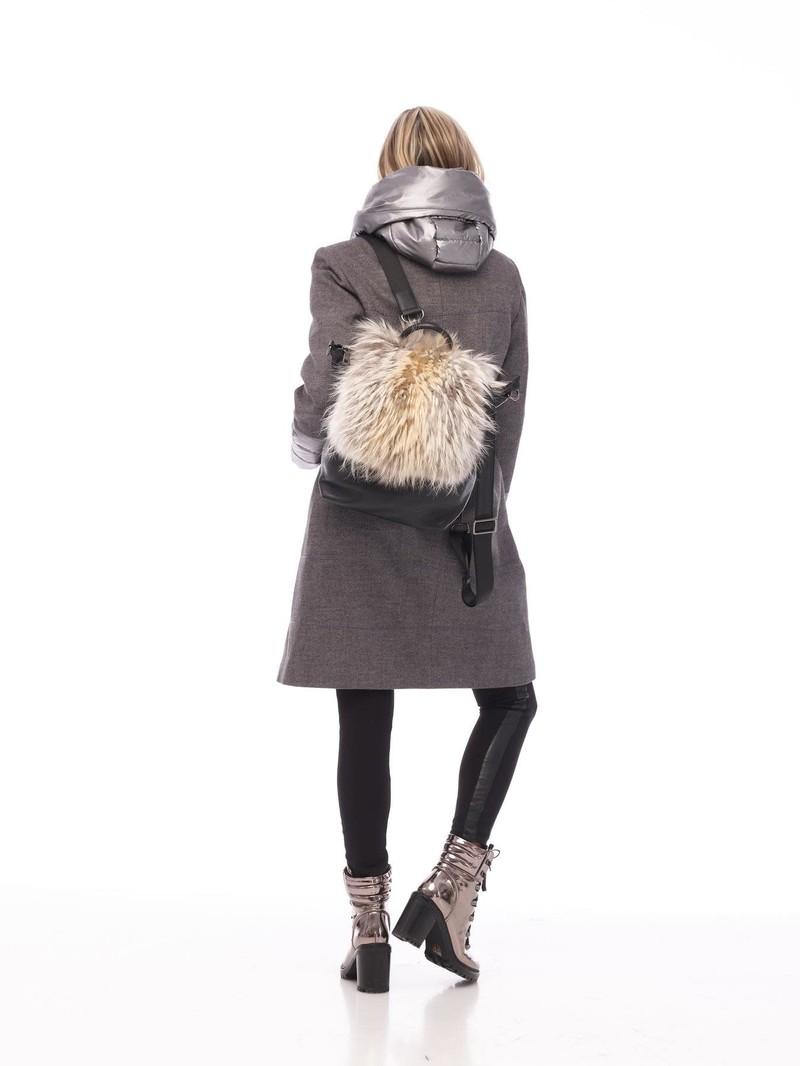Furlux Manteau de Laine à Capuchon Furlux LINDA