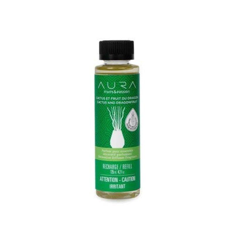 Fruits et Passion Parfum pour Ensemble Décoratif Parfumant AURA Cactus et Fruit du Dragon 125ml