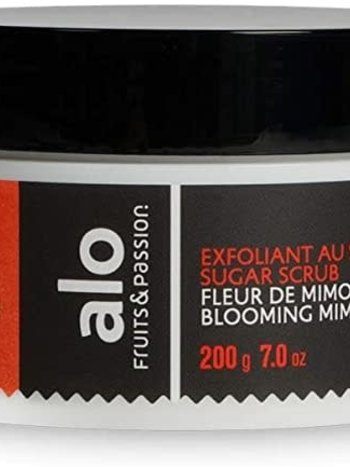 Fruits et Passion Exfoliant au Sucre alo  Fleur de Mimosa 200g