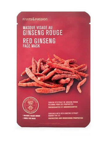 Fruits et Passion Masque Visage Au Ginseng Rouge Fruits et Passion