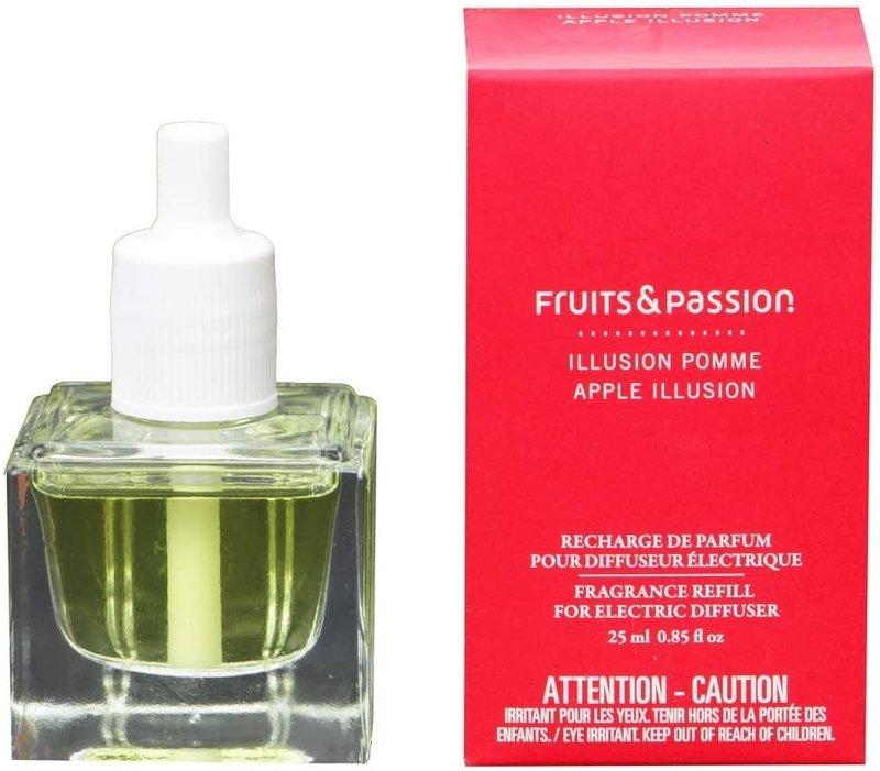 Fruits et Passion Recharge de Parfum pour Diffuseur Électrique Illusion Pomme  Fruits et Passion 25ml