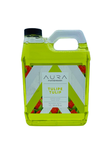 Fruits et Passion Recharge Savon Mains AURA Tulipe 1L
