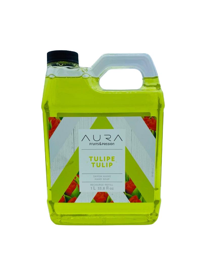 Fruits et Passion Recharge Savon Mains AURA Tulipe 1L
