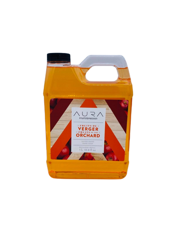 Fruits et Passion Recharge Savon Mains AURA Fruits du Verger 1L