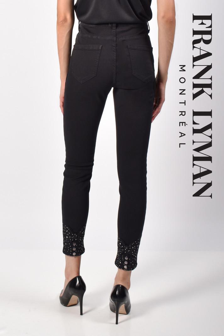 Frank Lyman Jeans Skinny Boucle et Strass au Bas Frank Lyman 216108U