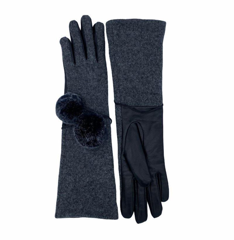 Furlux Gant de Laine/Cuir avec Pompoms Furlux GL908