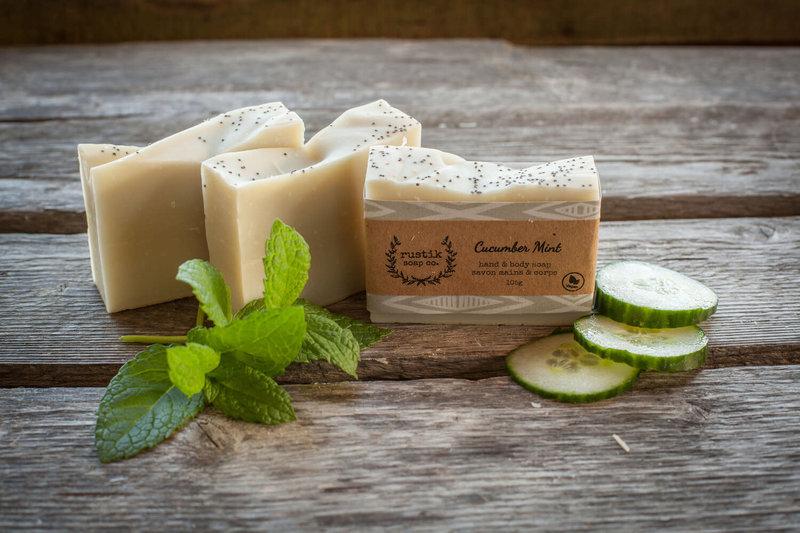 rustik soap co. Savon pour les Mains et le Corps Concombre et Menthe rustik soap co.