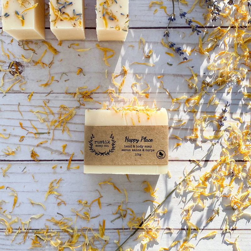 rustik soap co. Savon pour les Mains et le Corps Happy Place rustik soap co.