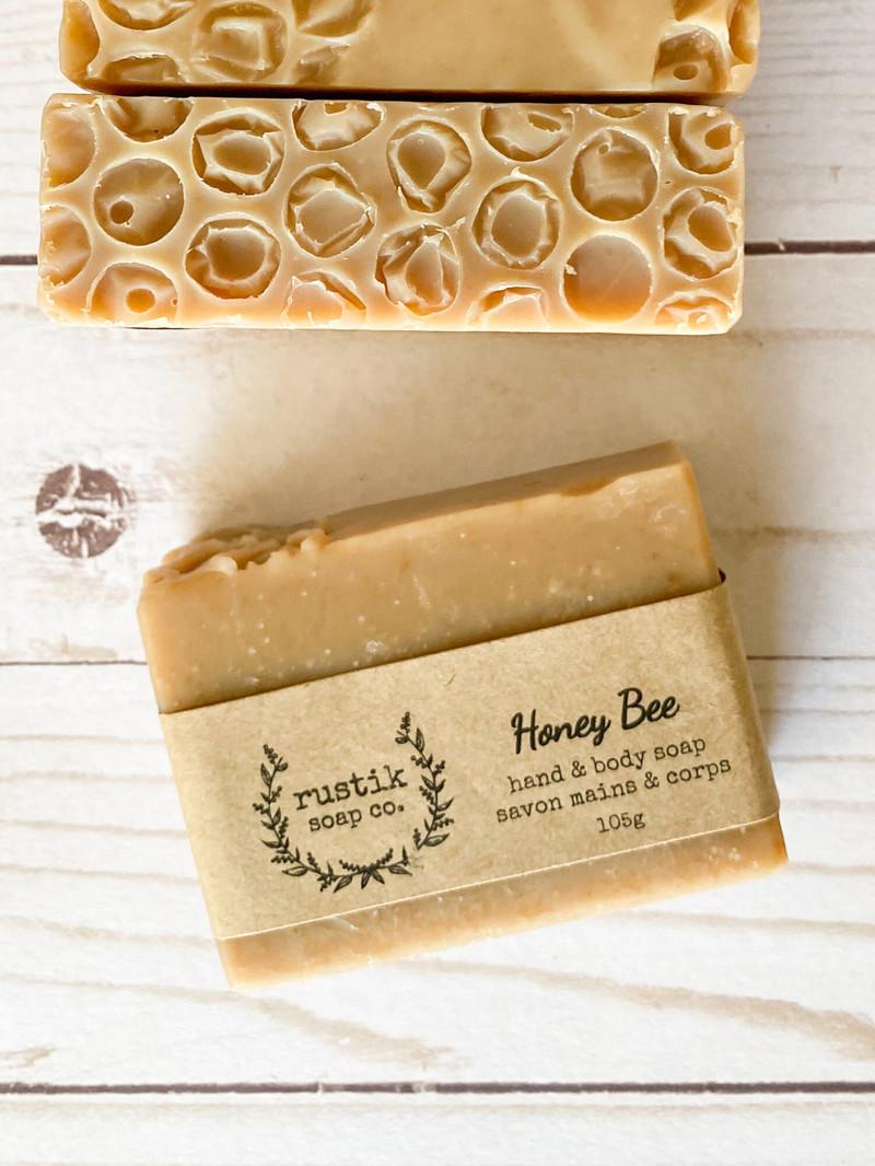 rustik soap co. Savon pour les Mains et le Corps Honey Bee rustik soap co.