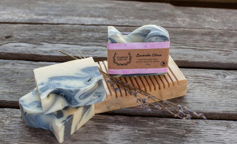 rustik soap co. Savon pour les Mains et le Corps Lavande et Agrumes rustik soap co.