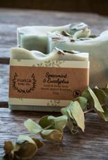 Savon pour les Mains et le Corps Menthe Verte et Eucalyptus rustik soap co.