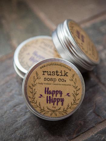 rustik soap co. Beurre Corporel Happy Hippy rustik soap co.