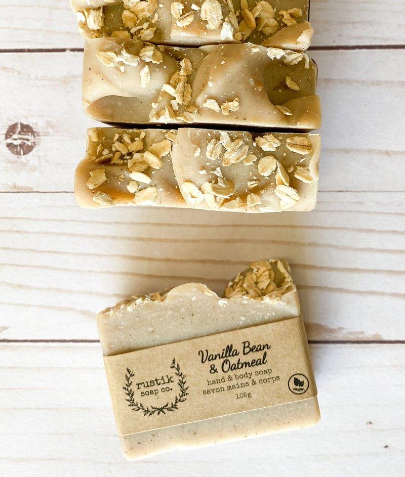 rustik soap co. Savon pour les Mains et le Corps Gousse de Vanille et Gruau rustik soap co.