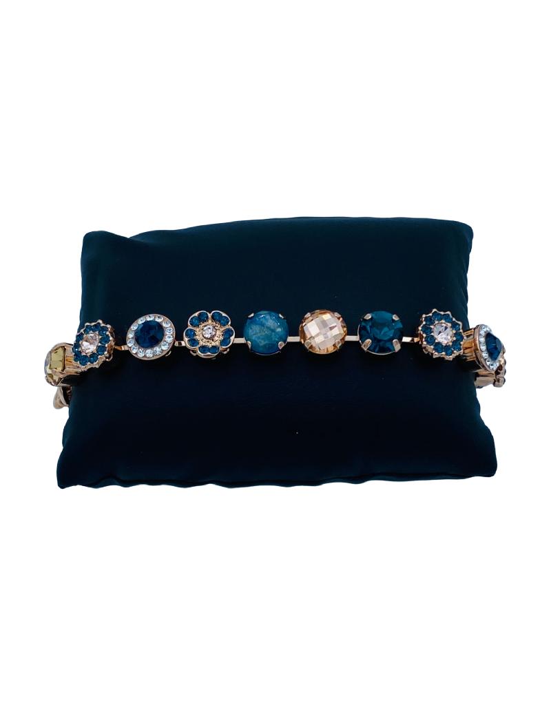 Mariana Bracelet Mariana B-4084 Fleurs Swarovski Bleu/Gold/Clair 2142 RG