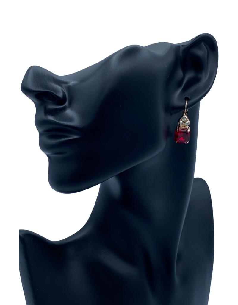 Mariana Boucles d'oreilles Mariana E-1014 avec pierres Rouge/Gold 216208RG6