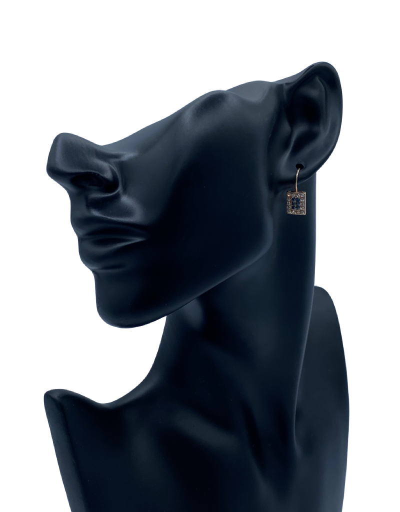 Mariana Boucles d'oreilles Mariana avec pierre E-1068/1 Royal/Gold 2142RG6