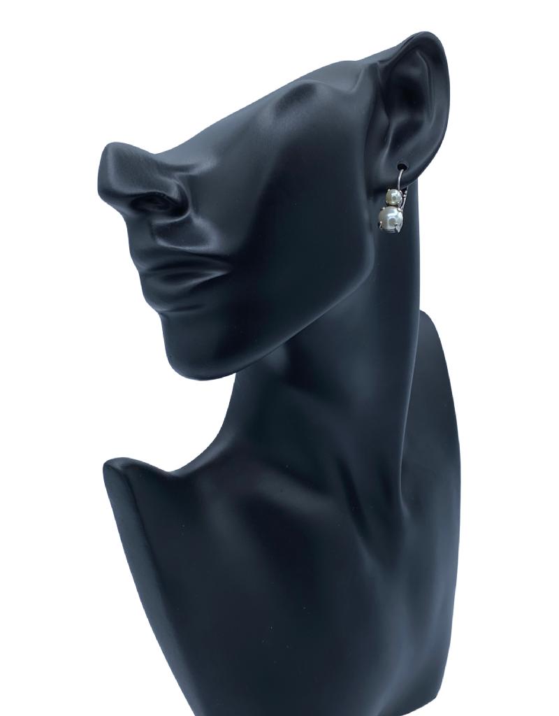 Mariana Boucles d'oreilles Mariana avec pierres E-1190 2 perles/Silver 139139SP6