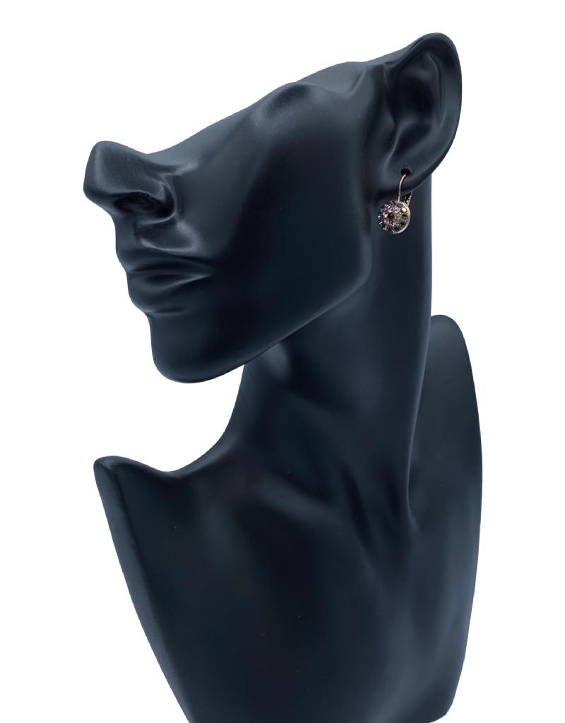 Mariana Boucles d'oreilles E-1416 Charcoal/Rose Gold 1073 RG6